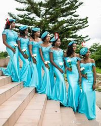 2017 Turquoise South African Mermaid Bridesmaid Dresses ...