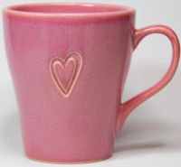 Starbucks Coffee Mug Cup Heart Cutout Pink Tapered ...