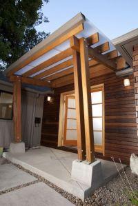 glass door entrance pergola overhang | curb appeal ...
