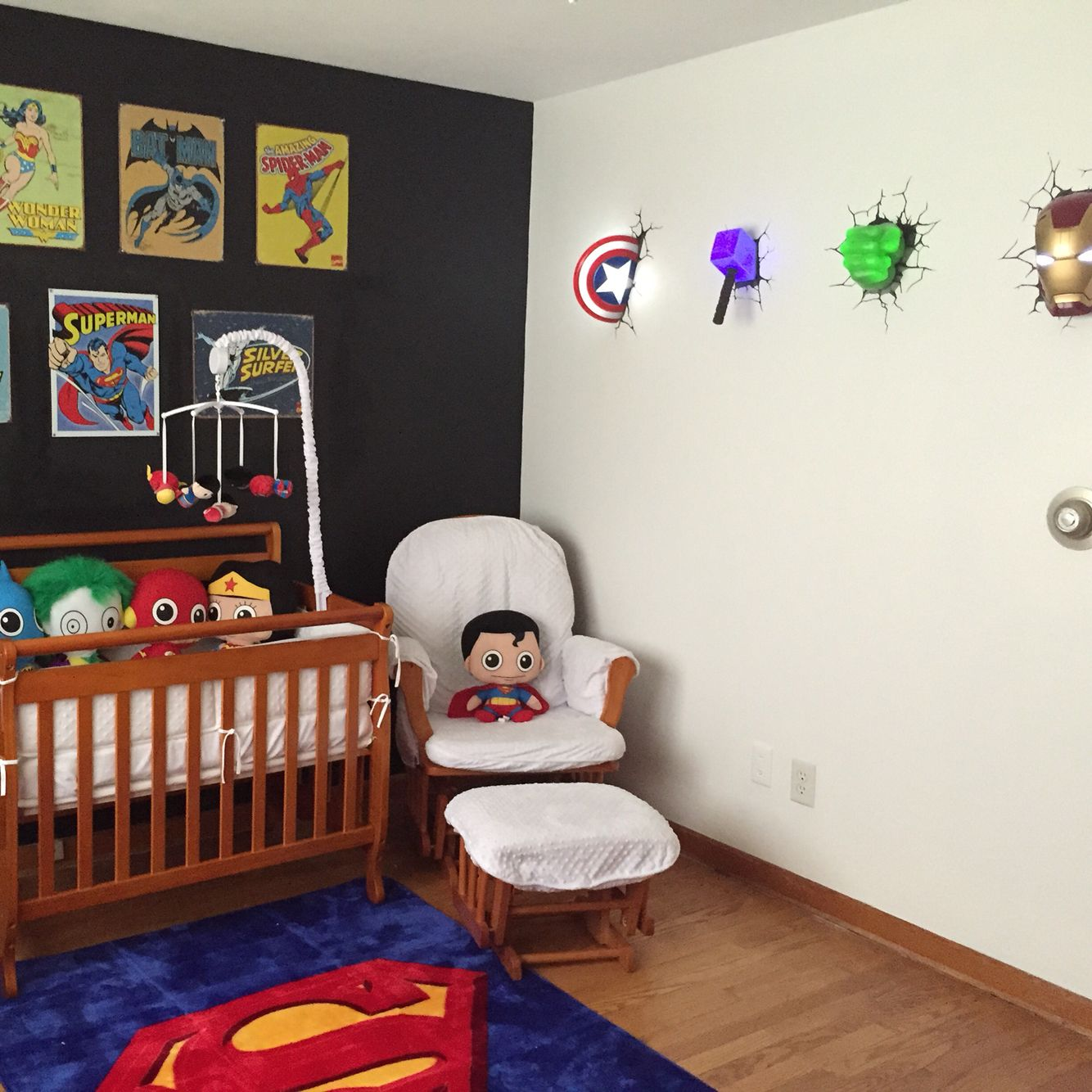 Superman Room Ideas Baby Nursery Superheroes Avengers Marvel Superman Baby Boy