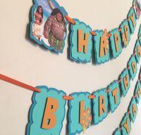 Disney's MOANA birthday banner/ Moana Birthday party/Moana ...