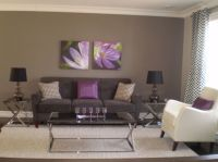 gray and purple living rooms ideas | Grey & Purple Modern ...