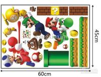 Super Mario Bros wall stickers mural wall decor room decal ...