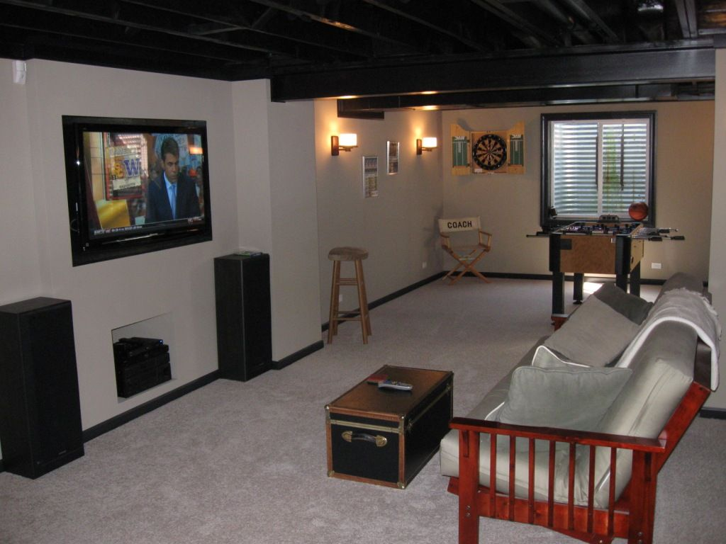 Finish My Basement Ideas Diy Finished Basement Notice How Painting Ceiling Beams