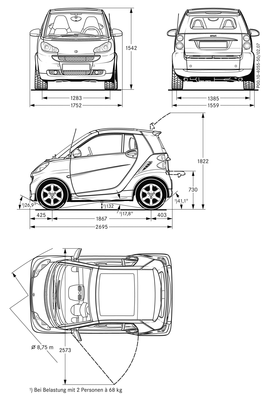 smart fortwo electric car motor pics