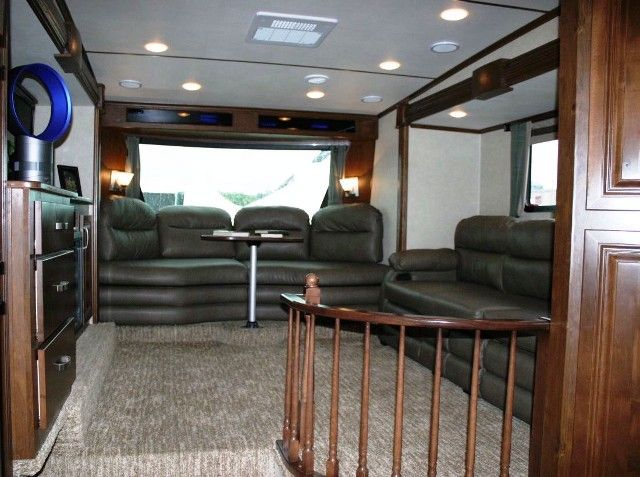 2013 Rushmore 39LN Lincoln Front Living Room Five Slide Fifth - front living room fifth wheel