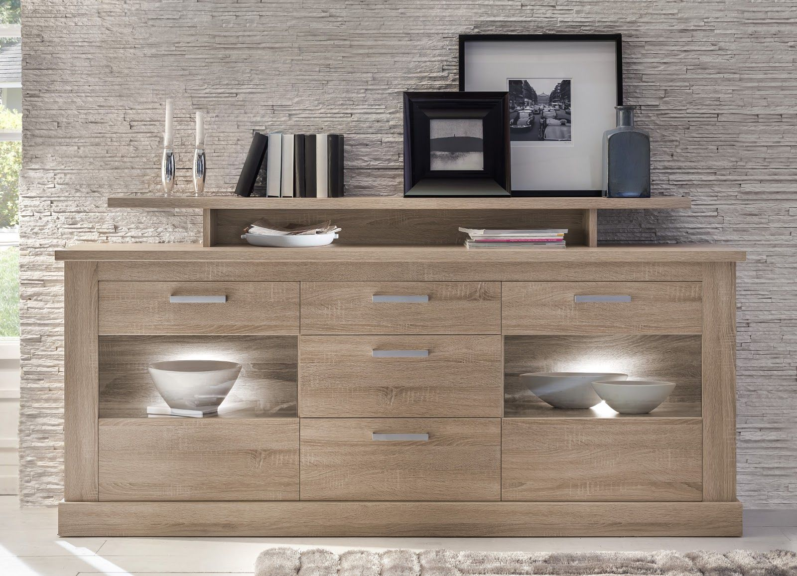 sideboard eiche dunkel awesome kommode sonoma eiche