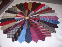 "Necktie quilt ""The Ties that Bind"" 