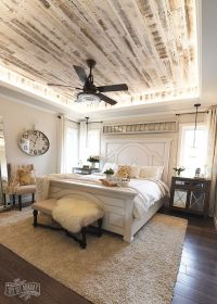 Modern French Country Farmhouse Master Bedroom Design ...
