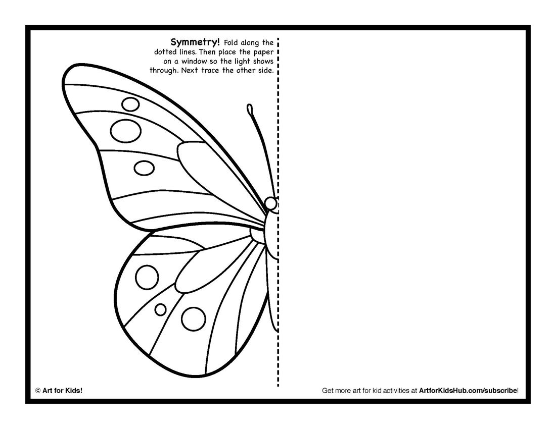Symmetry art activity 5 free coloring pages art for kids