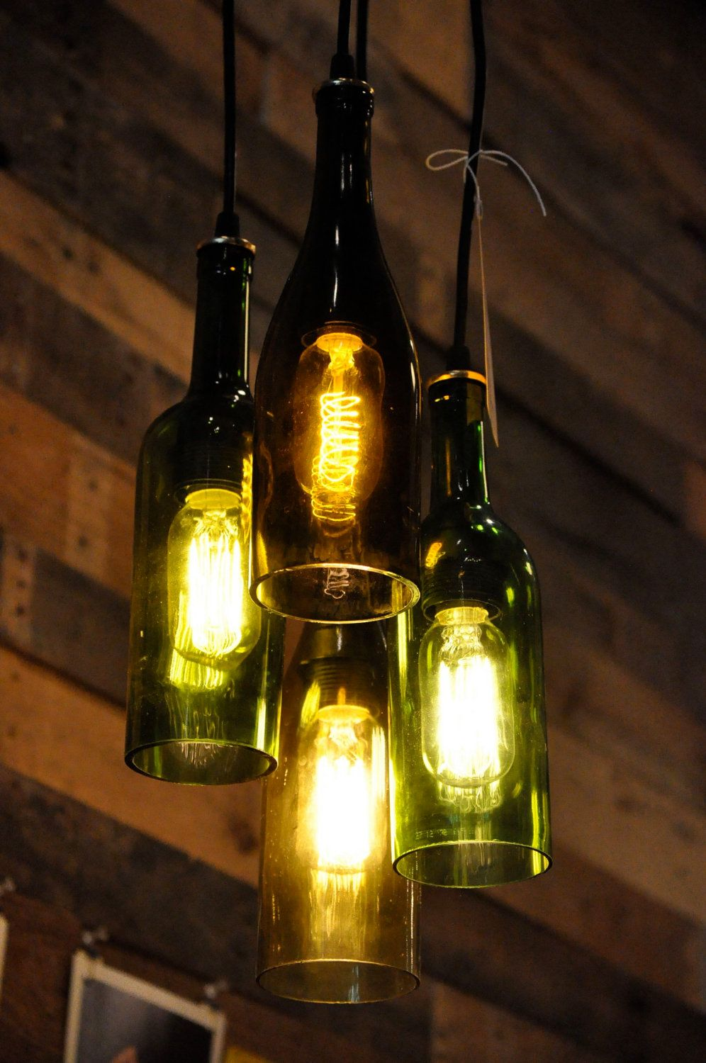 Lampara Botella Vidrio Bottle Chandelier House Design Pinterest Botellas De Vidrio