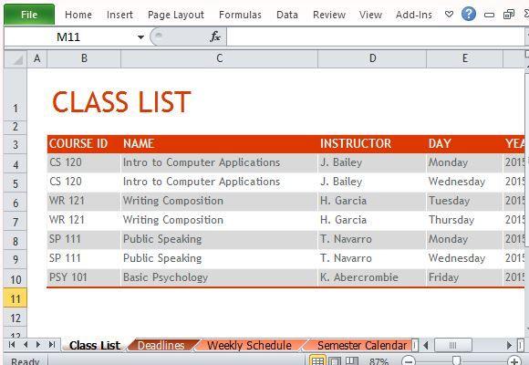 Class Roster Template Teacher Grade Book \/ Class List Template (6 - classroom list template