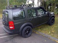 Landrover Discovery with roof rack and spare tire mount ...