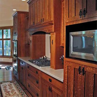 Hardwood Kitchen Cabinets Custom Built Evansville