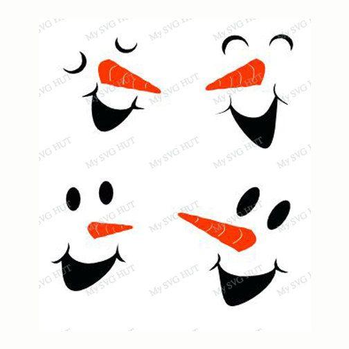 Snowman Faces Set 2 Template Snowman Faces, Vinyl Windows - snowman template