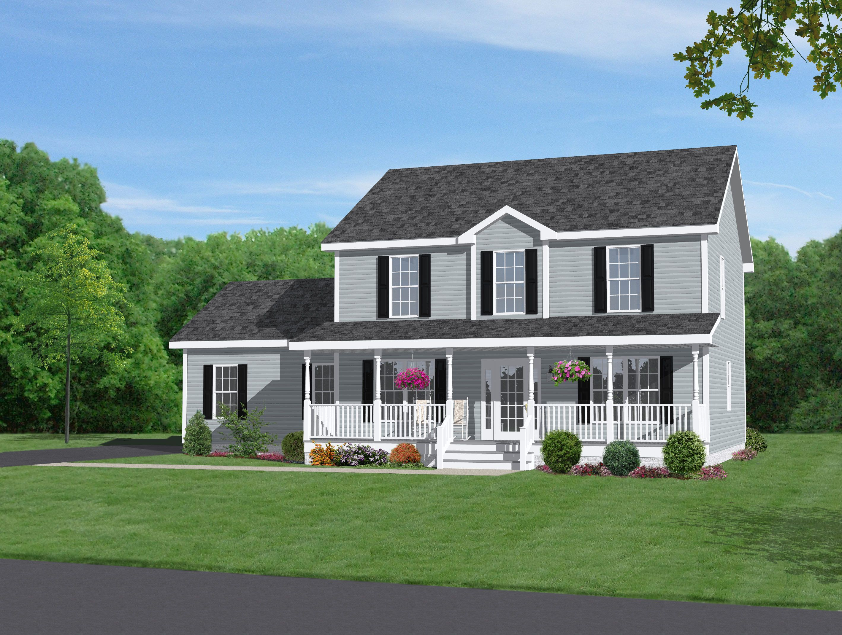 Beautiful Two Story House Two Story Home With Beautiful Front Porch Dream Home