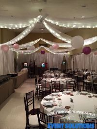 Ceiling Drape, Pipe and Drape and Paper Lanterns for ...