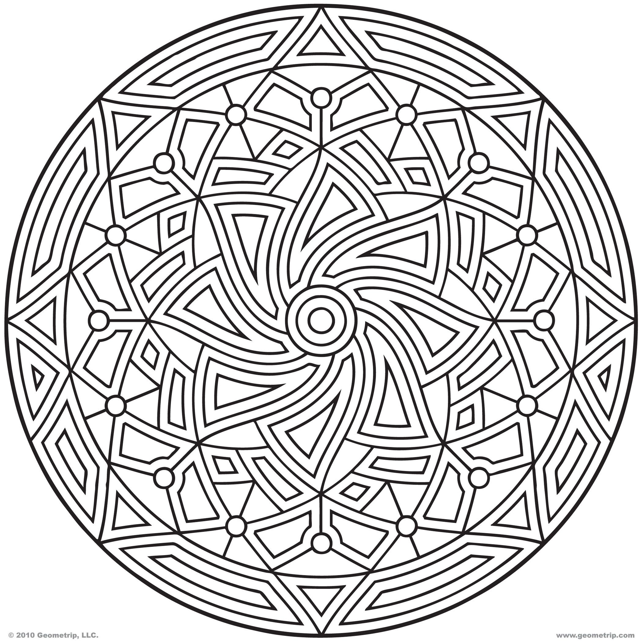 Images of printable hard geometric coloring pages geometrip com free geometric coloring designs