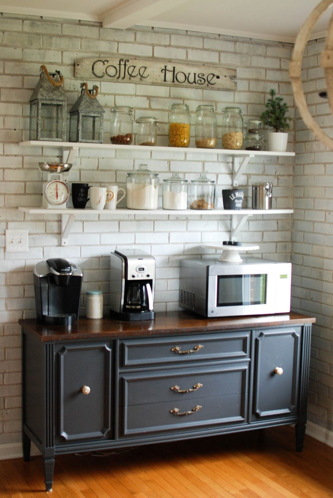 Open Shelving Kitchen Cabinets Caught In Grace Open Shelves Coffee Bar Buffet Our