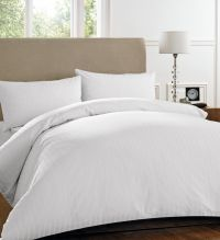Henderson stripe White bedding collection (Double Bed Set ...