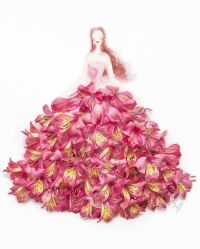 Elegant Drawings Of Girls Wearing Dresses Made Of Real ...
