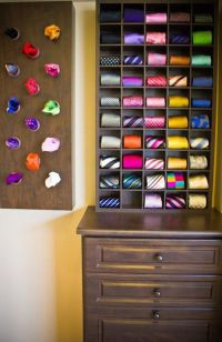 What a great idea for men's ties. You can build it ...