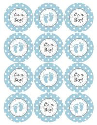 Its a Boy Cupcake Toppers Baby Shower by ...