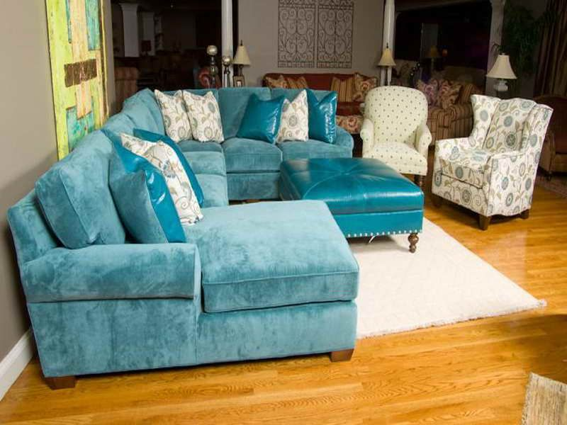 Teal Living Rooms | Teal Ottoman Furniture For Living Room | Home