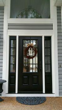 Model 440 Signet Fiberglass Front Entry Door--Coal Black ...