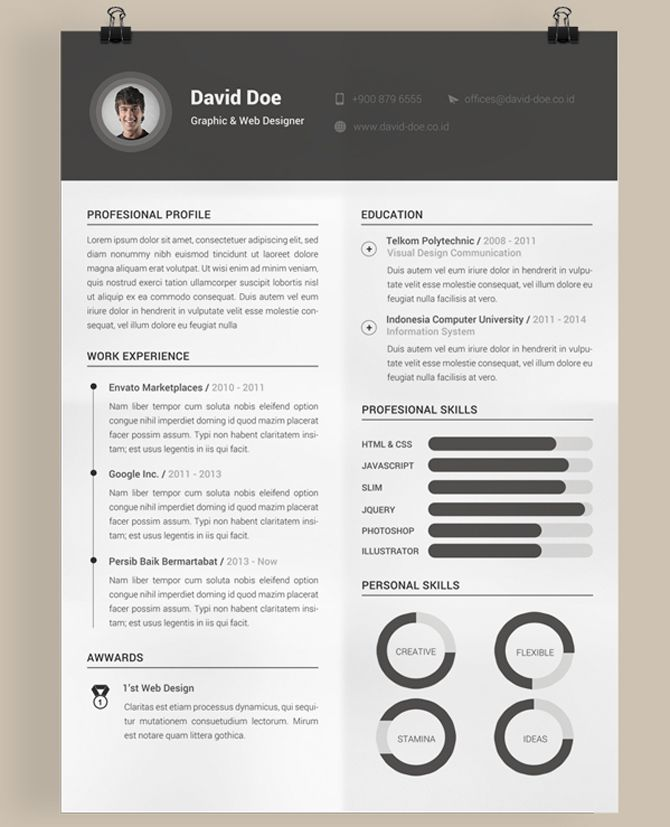 40 Best Free Resume Templates 2017 PSD, AI, DOC Free printable - contemporary resume templates free