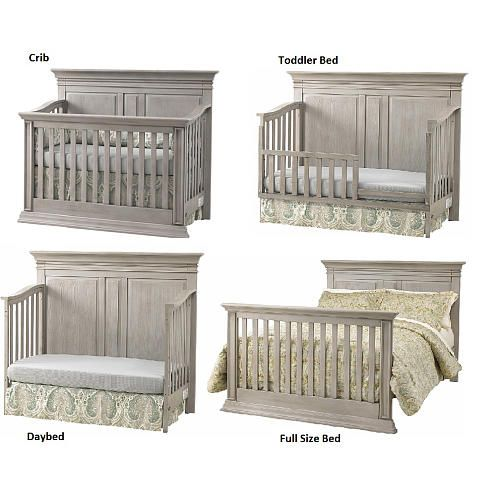 Baby Cache Vienna 4 In 1 Convertible Crib Ash Gray