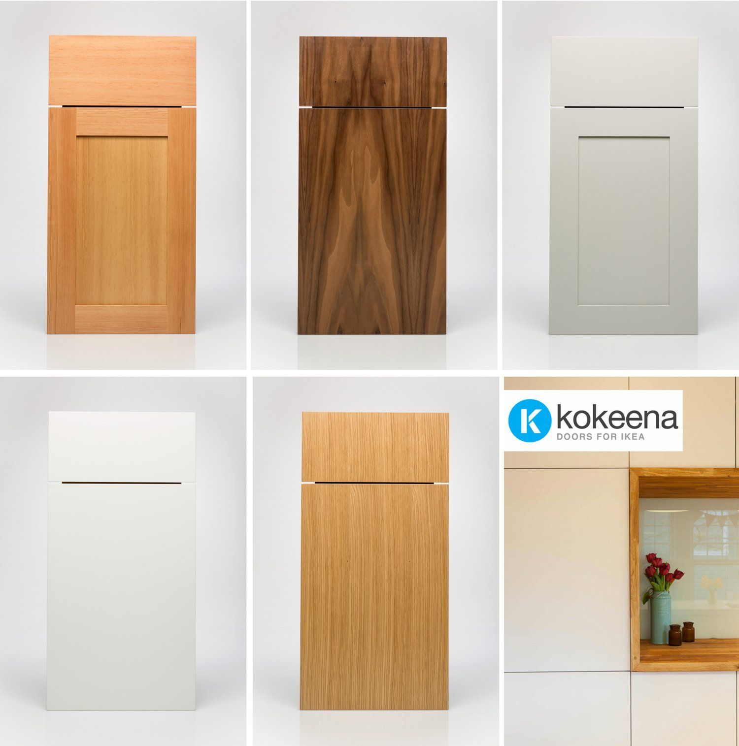 Custom Doors For Ikea Kitchen Cabinets Kokeena Real Wood Ready Made Cabinet Doors For Ikea