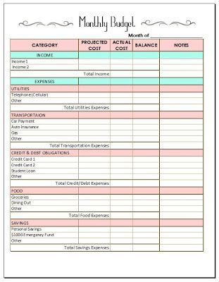 Need to personalize moreMONTHLY BUDGET TEMPLATE! Finances - home budget template