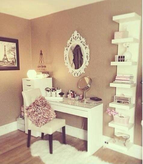 Decor Penteadeiras improvisadas For women, A walk and Vanities - vanity ideas for bedroom