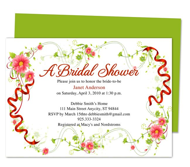 Juliet Bridal Shower Invitation Template easy to download and edit - bridal shower invitation templates for word