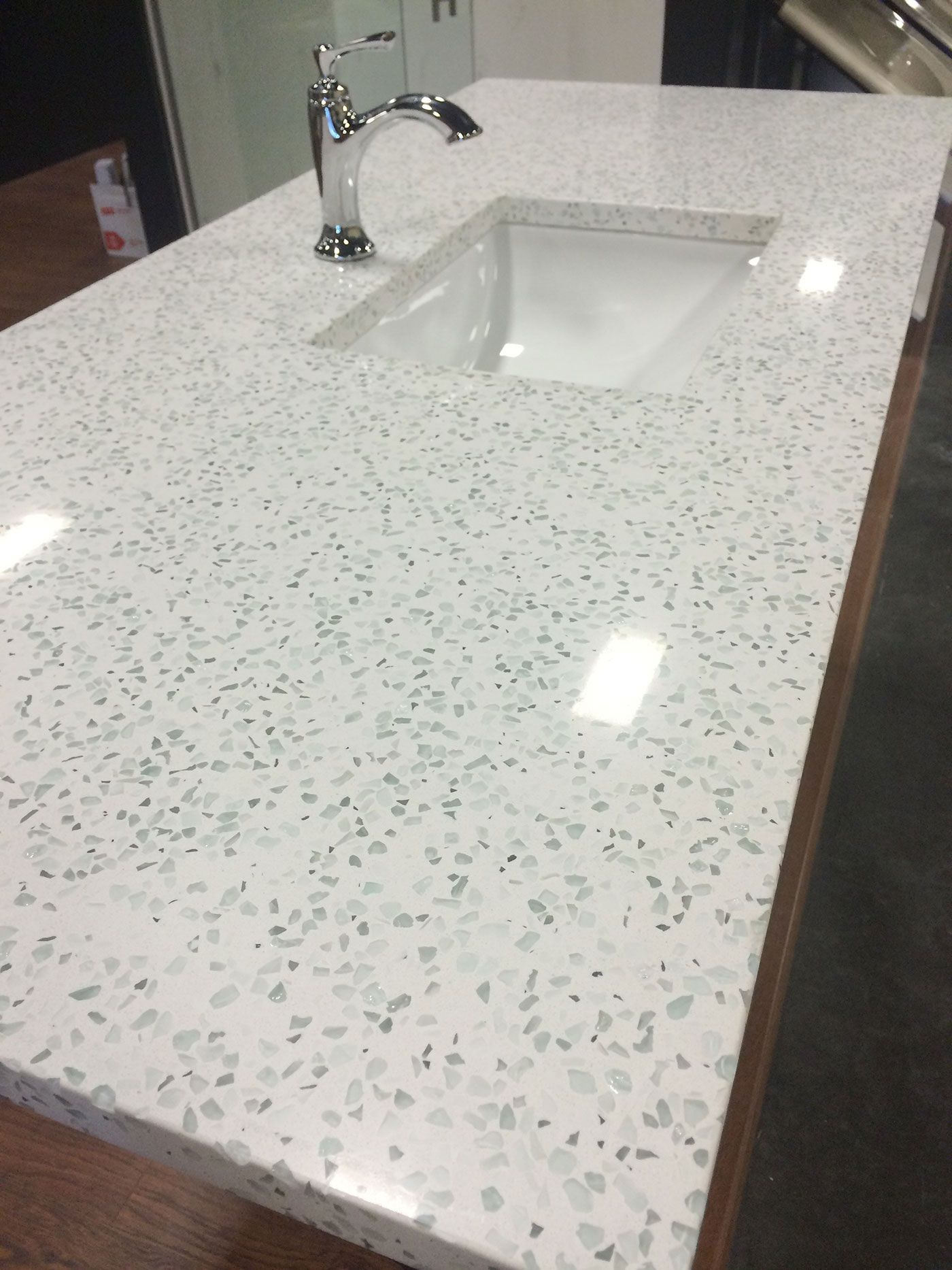Curava Recycled Glass Countertops Curava In Element Color Durable And Affordable Green