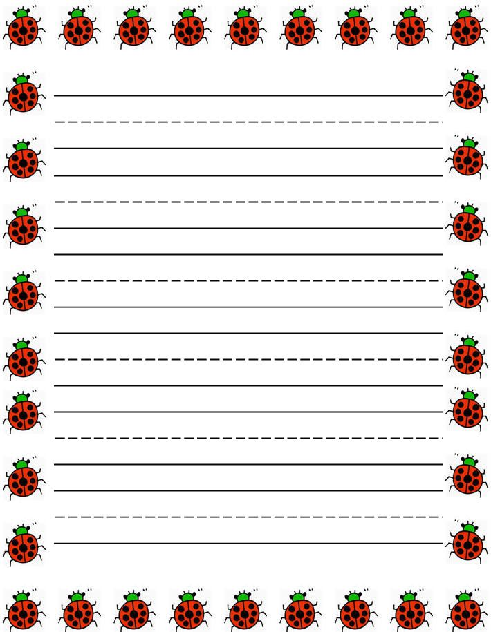 Free printable kids stationery, free primary lined writing paper - printing on lined paper