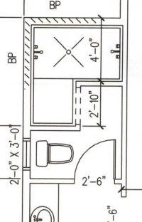 4-5'x7-8' dimensions range; Dimensions for doorless walk ...
