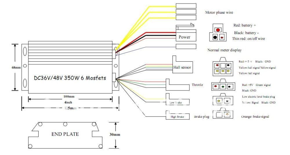 1000 watt scooter controller wiring diagram