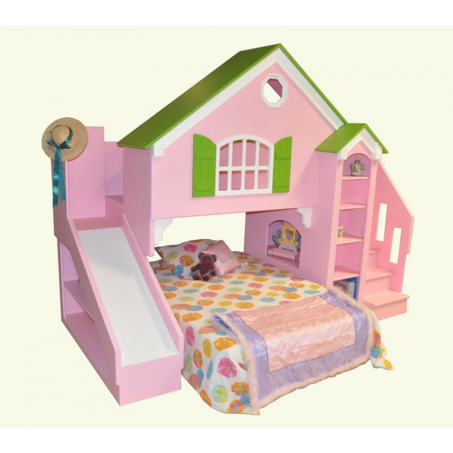 Bed Designs For Girl Tanglewood Design Dollhouse Bed Plans With Optional Slide