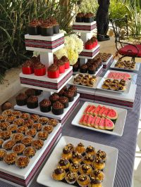 Dessert table at backyard wedding reception... | Sweets ...