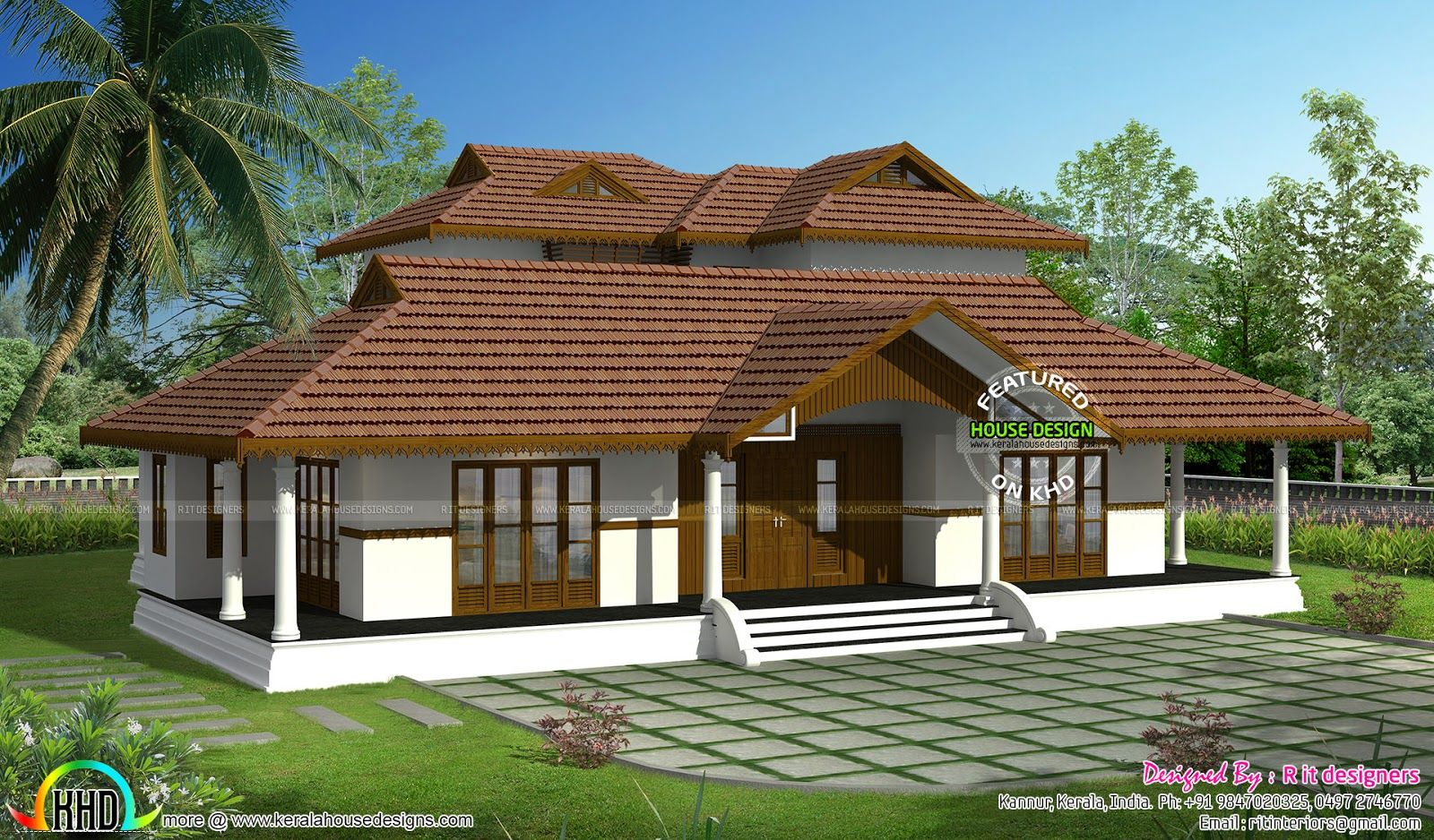 Kerala traditional home with plan nalukettu plans single