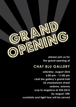 Grand Opening invite Invites Pinterest Grand opening, Vip - business meet and greet invitation wording