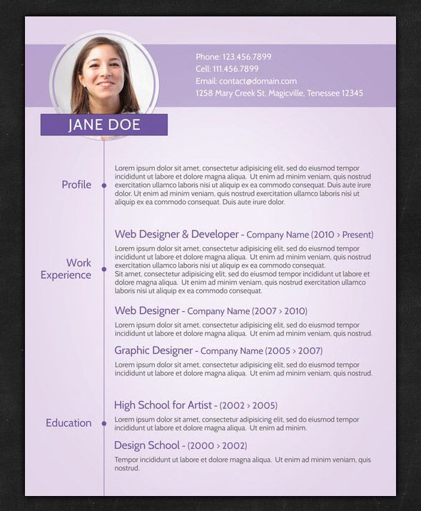Creative Resume Templates - http\/\/wwwresumecareerinfo\/creative - resume templates with photo