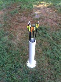 PVC arrow Holder   Survival   Pinterest