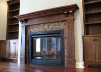 Craftsman fireplace surround family room traditional with ...