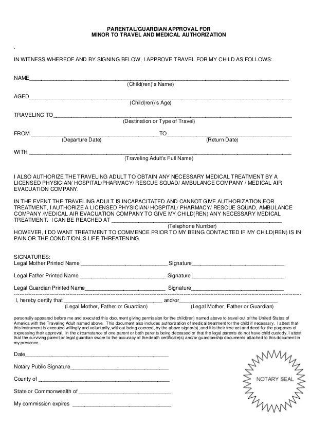 minor consent letter children travel and child Home Design Idea - travel consent form sample