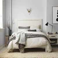 gray wall and beige carpet | Blue grey walls and pillows ...