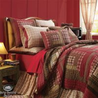 Country Rustic Red Log Cabin Twin Queen Cal King Quilt ...