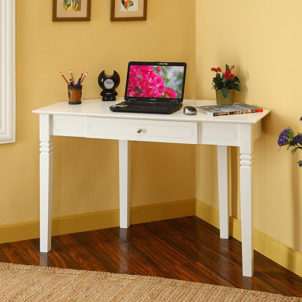 Small Desk For Bedroom Corner Desks For Small Spaces | White Corner Desk With One